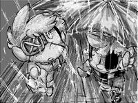 Black n white scenery doodles/tests